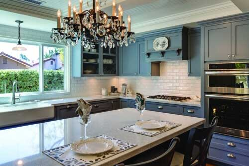 airy french country kitchen in oceanside - Kitchen In French